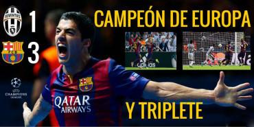 El Barcelona es ¡¡¡TRICAMPEÓN!!! tras conquistar la Champions League