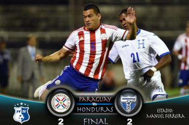 Honduras saca importante empate ante Paraguay en Asunción