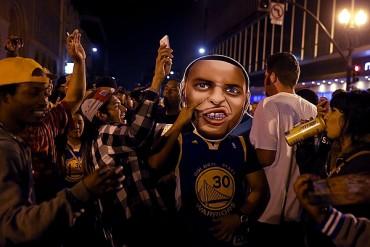 Fiesta en la bahía, Fans de Warriors celebraron título