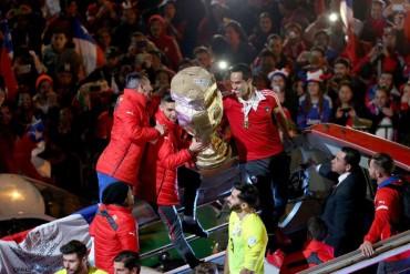 Chile celebra el título con sus aficionados