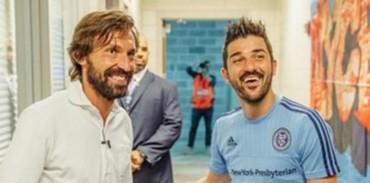David Villa dio la bienvenida a Pirlo al NYCFC