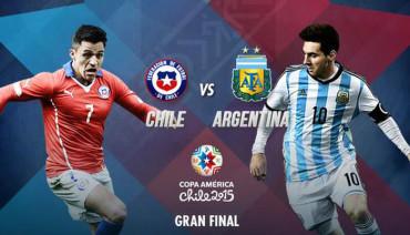 Chile y Argentina disputarán la final de la Copa América 2015