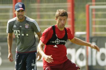 Guardiola y Müller se van a los gritos en el entrenamiento