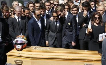 La Fórmula 1 da su último adiós a Bianchi en la Catedral de Niza