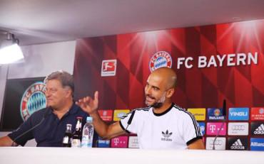 """Guardiola, """"emocionado"""" ante una temporada histórica para el Bayern"""