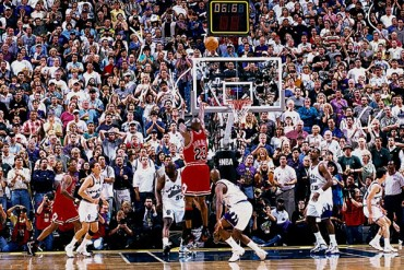 Canasta de último tiro de Jordan con Bulls, a subasta