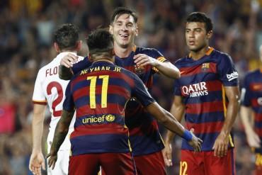 Messi y Neymar sentenciaron a la Roma y el Gamper