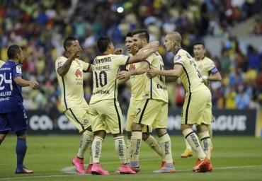 El América sin despeinarse golea al Motagua en el estadio Azteca