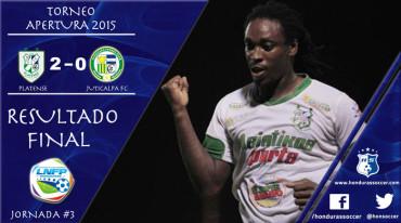 El Platense le proporciona la primera derrota del torneo al Juticalpa