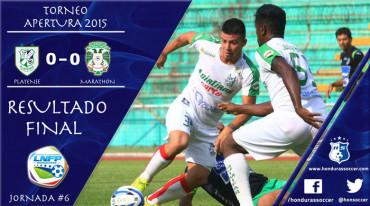 Platense y Marathón ofrecieron un partido aburrido en Puerto Cortes
