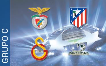 Grupo C: El Atlético se enfrentará al Benfica, Galatasaray y Astana
