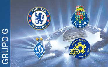 Grupo G: El Chelsea jugará contra el Oporto, el Dinamo de Kiev y el Maccabi