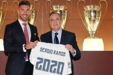 Sergio Ramos renovó hasta 2020 con el Real Madrid