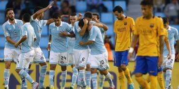 El Celta descabeza al Barça
