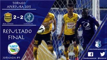 Real España rescató un agónico empate ante Motagua