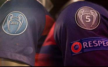Las nuevas insignias de campeón en la camiseta del FC Barcelona