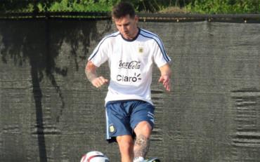 """Messi: """"Estoy feliz de juntarme con los compañeros de la selección argentina"""""""