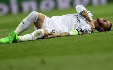 Sergio Ramos, baja por una luxación en el hombro izquierdo