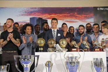 Real Madrid rindió homenaje de goleador a 'CR7'