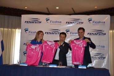 Fenafuth presentó una camiseta rosada como apoyo al Cáncer de mama