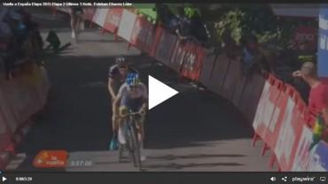 Vuelta a España Etapa 2015 Etapa 2 Últimos 3 Kmts. Esteban Chaves Líder