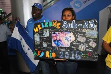 Con mucha alegría fueron recibidos los jugadores de la Sub-23 de Honduras