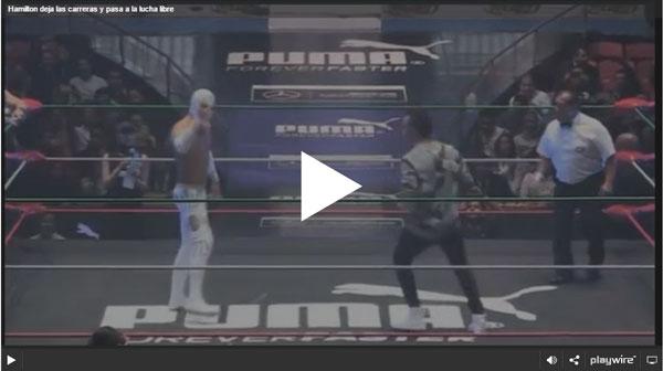 Hamilton deja las carreras y pasa a la lucha libre