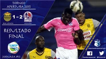 El Olimpia sigue en alza al vencer al Real España en San Pedro Sula