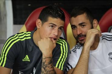 James y Benzema entrenaron con el Madrid