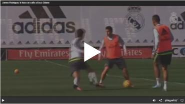 James Rodriguez le hace un caño a Enzo Zidane
