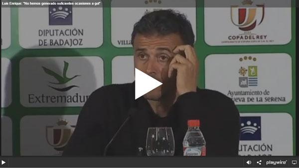 """Luis Enrique: """"No hemos generado suficientes ocasiones a gol"""""""