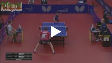 El jugador profesional más joven de ping-pong.