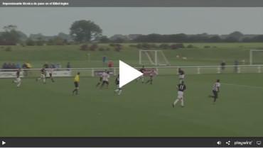 Impresionante técnica de pase en el fútbol ingles