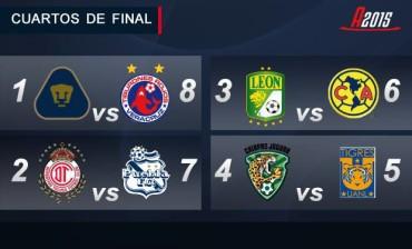 Definidos los Cuartos de Final del fútbol Mexicano