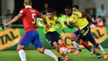 Colombia rescata valioso empate ante Chile
