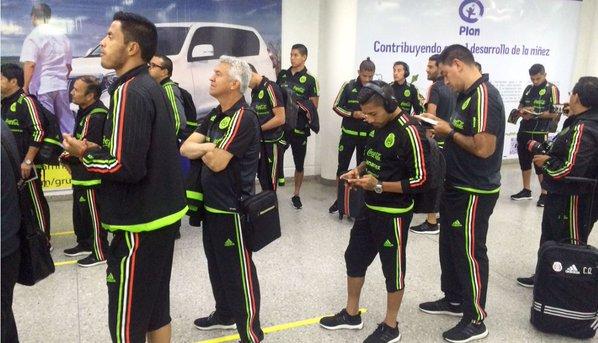 Selección Mexicana ya arribó a suelo catracho