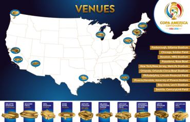 Copa América centenario ya tiene sus sedes definidas en los EE.UU