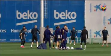 El Barça ha completado la última sesión de entrenamiento previa al partido de Champions de este miércoles en el Camp Nou