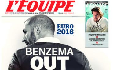 Benzema podría quedarse sin la Eurocopa de Francia