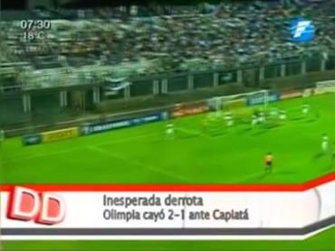 Video: ¡Increible Golazo! Olimpia de Paraguay recibe un gol olímpico 30 años después