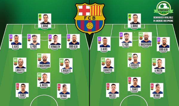 Enrique duda para el Clásico entre alinear a Messi o Vermaelen