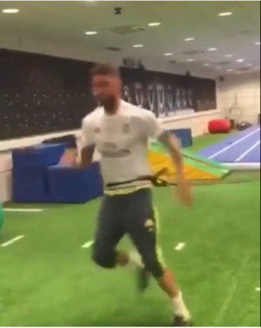 VIDEO: Sergio Ramos se entrena y apunta al clásico