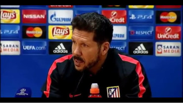 "VIDEO: Simeone: ""El partido de mañana ante el Astana es determinante"""