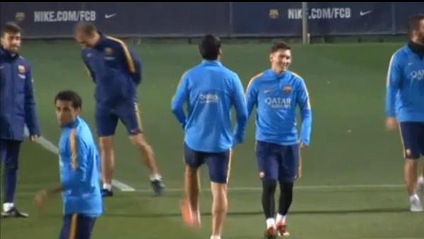 VIDEO: Messi y Rakitic, novedades para ir al Bernabéu