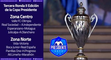 Definidos los cruces de la tercera jornada de la II Edición de la Copa Presidente