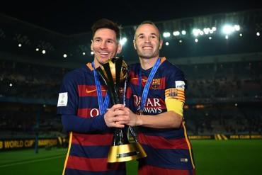 Iniesta y Messi, máximos ganadores del Barça