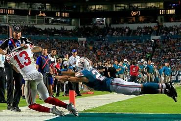 Americano | Giants 31-24 Dolphins; Beckham mostró magia