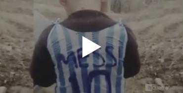 """VIDEO: La imagen que estremece al mundo, """"El Messi de Irak"""""""