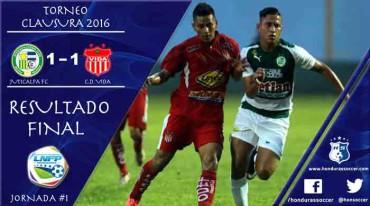 Juticalpa FC y Vida firmaron el primer empate del Torneo de Clausura