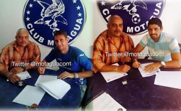 El Capitán Júnior Izaguirre e Israel Silva renovaron con Motagua